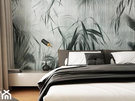Aranżacje wnętrz - Sypialnia: WORONICZA - Mała szara sypialnia małżeńska, styl minimalistyczny - FAMM DESIGN. Przeglądaj, dodawaj i zapisuj najlepsze zdjęcia, pomysły i inspiracje designerskie. W bazie mamy już prawie milion fotografii!