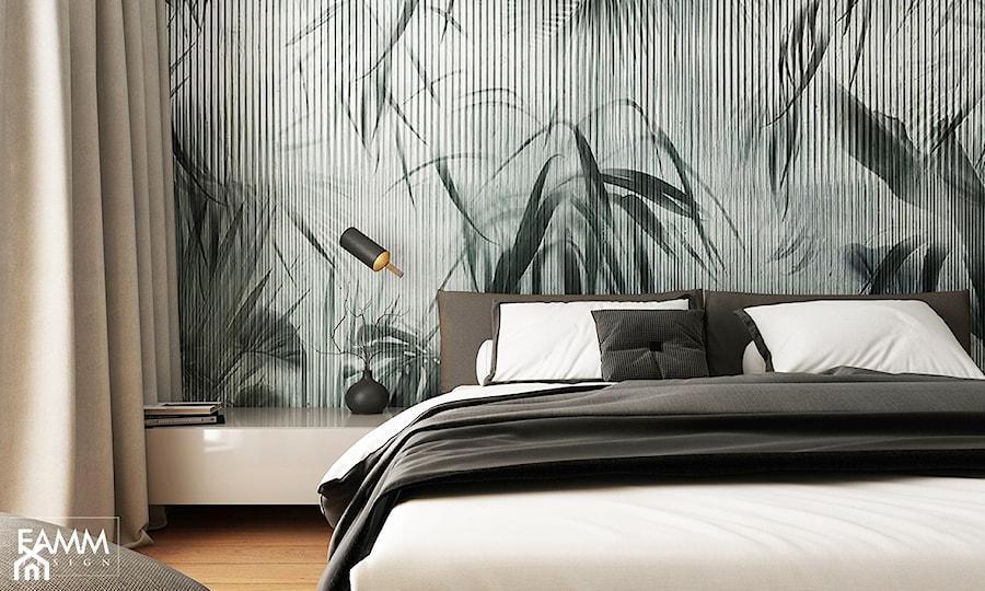 WORONICZA - Mała szara sypialnia małżeńska, styl minimalistyczny - zdjęcie od FAMM DESIGN