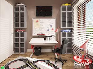 KLIMATYCZNY WILANÓW - Mały brązowy pokój dziecka dla chłopca dla dziewczynki dla ucznia dla nastolatka, styl nowoczesny - zdjęcie od FAMM DESIGN