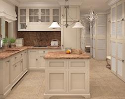 widok na kuchnię z wyspą - zdjęcie od FAMM DESIGN