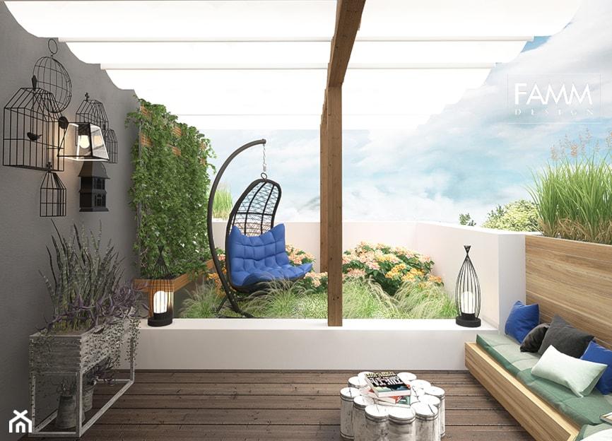 LOFT LOVE - Średni taras z tyłu domu, styl eklektyczny - zdjęcie od FAMM DESIGN