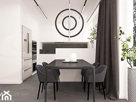 Aranżacje wnętrz - Jadalnia: WHITE & BLACK - Jadalnia, styl minimalistyczny - FAMM DESIGN. Przeglądaj, dodawaj i zapisuj najlepsze zdjęcia, pomysły i inspiracje designerskie. W bazie mamy już prawie milion fotografii!