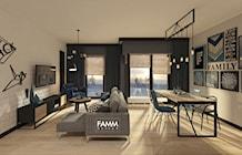 Salon styl Skandynawski - zdjęcie od FAMM DESIGN