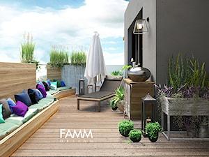 LOFT LOVE - Średni taras z tyłu domu, styl industrialny - zdjęcie od FAMM DESIGN