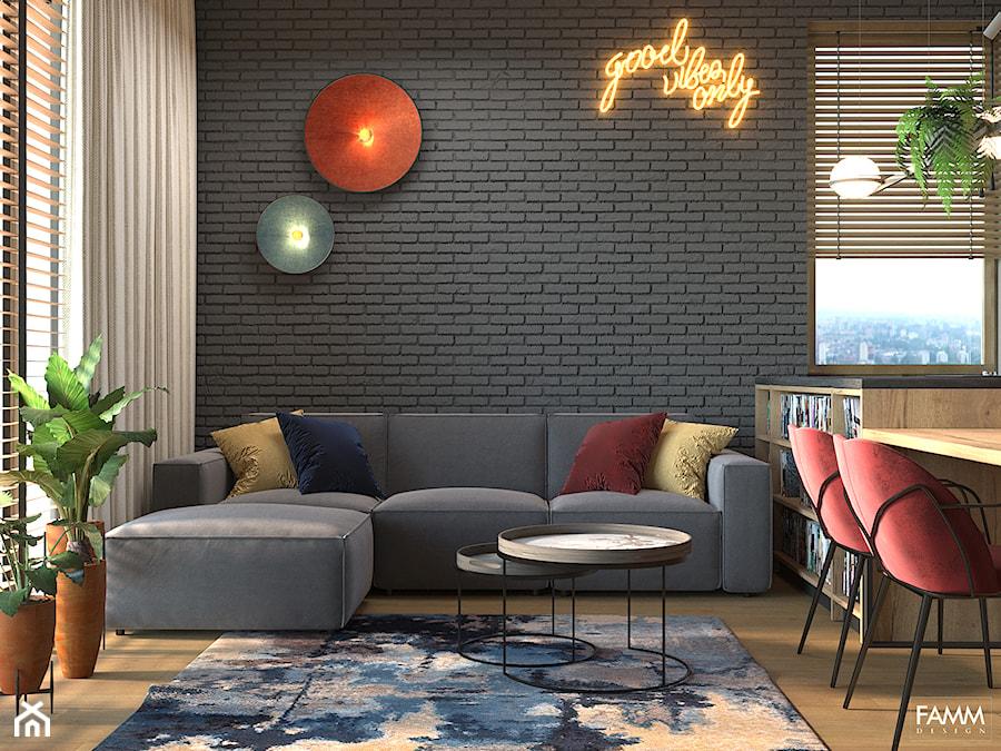 PLAC ZABAW - Salon, styl industrialny - zdjęcie od FAMM DESIGN