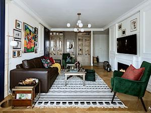 SESJA SASKA KĘPA - Średni biały salon, styl kolonialny - zdjęcie od FAMM DESIGN