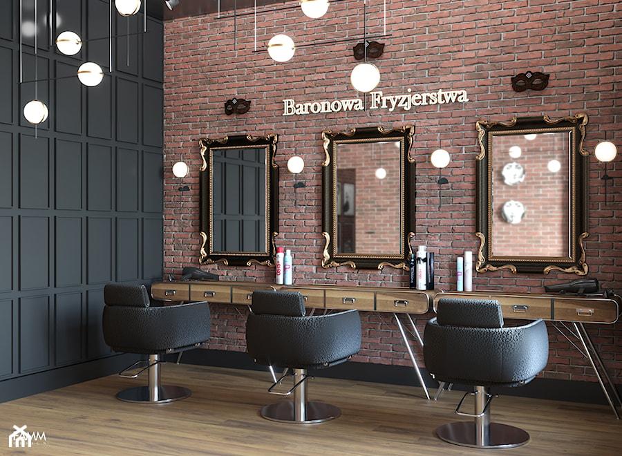 BARONOWA FRYZJERSTWA - Wnętrza publiczne, styl industrialny - zdjęcie od FAMM DESIGN