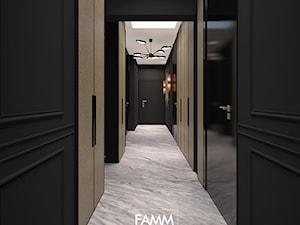 ELEGANCKI TORUŃ - Duży czarny hol / przedpokój, styl włoski - zdjęcie od FAMM DESIGN