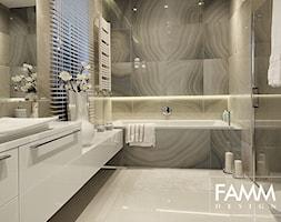 SESJA ZDJĘCIOWA - MAGDALENKA - Mała średnia łazienka w domu jednorodzinnym z oknem, styl nowoczesny - zdjęcie od FAMM DESIGN