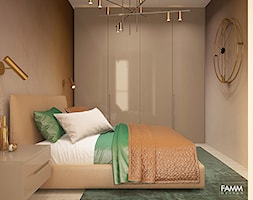 METRO POINT - Mała szara sypialnia małżeńska, styl nowoczesny - zdjęcie od FAMM DESIGN