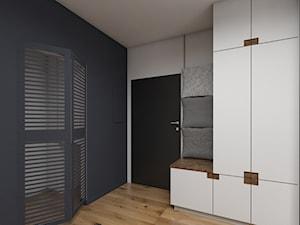 INDUSTRIALNE RETRO - Średni biały szary hol / przedpokój, styl industrialny - zdjęcie od Dizajnia art - studio projektowe