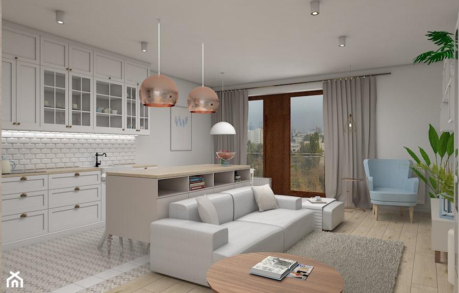 Zmysłowa Elegancja Apartament Mokotów Mały Szary Salon Z