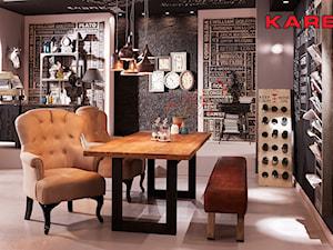 Średnia otwarta szara jadalnia, styl industrialny - zdjęcie od kare24.pl