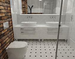 Dom_03 - Mała łazienka w bloku w domu jednorodzinnym bez okna, styl glamour - zdjęcie od JoKDesign