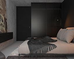 czErń ♠ - Sypialnia, styl industrialny - zdjęcie od ELEMENTY - Homebook