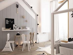 New nordic 2 - koncepcja - Średni biały szary pokój dziecka dla chłopca dla dziewczynki dla malucha dla nastolatka, styl skandynawski - zdjęcie od ELEMENTY