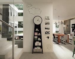 Wnętrze inspirowane kolorem - Średni biały hol / przedpokój, styl nowoczesny - zdjęcie od ELEMENTY