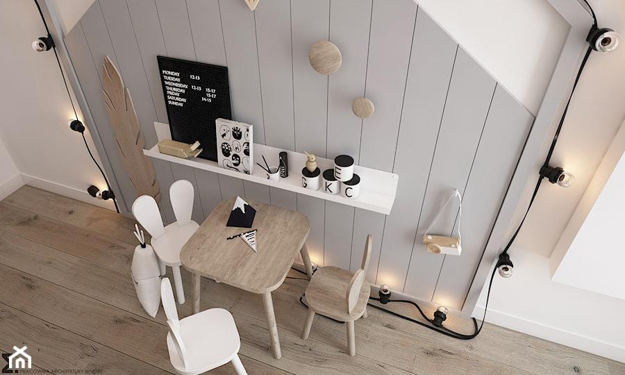 Aranżacje wnętrz - Pokój dziecka: New nordic 2 - koncepcja - Mały biały szary pokój dziecka dla chłopca dla dziewczynki dla ucznia dla malucha, styl skandynawski - ELEMENTY. Przeglądaj, dodawaj i zapisuj najlepsze zdjęcia, pomysły i inspiracje designerskie. W bazie mamy już prawie milion fotografii!