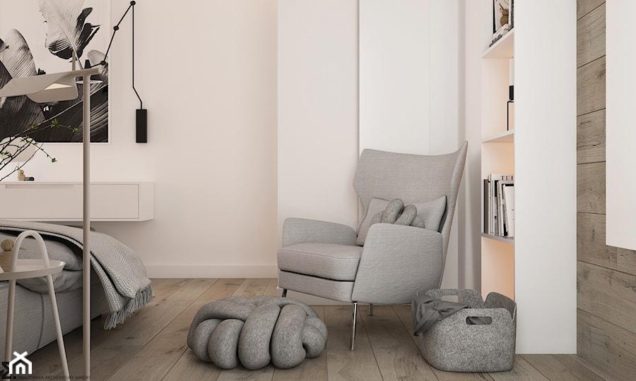 Aranżacje wnętrz - Sypialnia: New nordic 2 - koncepcja - Mała biała sypialnia małżeńska, styl skandynawski - ELEMENTY. Przeglądaj, dodawaj i zapisuj najlepsze zdjęcia, pomysły i inspiracje designerskie. W bazie mamy już prawie milion fotografii!