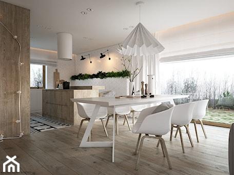 Aranżacje wnętrz - Jadalnia: New nordic 2 - koncepcja - Duża otwarta biała beżowa jadalnia w salonie, styl skandynawski - ELEMENTY. Przeglądaj, dodawaj i zapisuj najlepsze zdjęcia, pomysły i inspiracje designerskie. W bazie mamy już prawie milion fotografii!