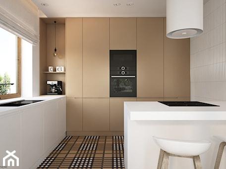 Aranżacje wnętrz - Kuchnia: Skandynawski minimalizm w odcieniach nude - Średnia zamknięta biała kuchnia dwurzędowa z wyspą z okn ... - ELEMENTY. Przeglądaj, dodawaj i zapisuj najlepsze zdjęcia, pomysły i inspiracje designerskie. W bazie mamy już prawie milion fotografii!