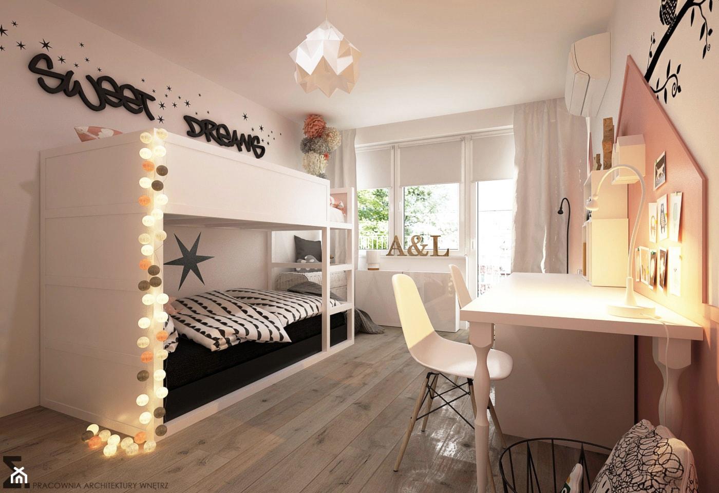 Pokoje dla nastolatków młodszych i najmłodszych - Średni biały pokój dziecka dla rodzeństwa dla malucha, styl skandynawski - zdjęcie od ELEMENTY - Homebook