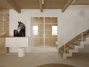 Dom drewniany - Hol / przedpokój, styl minimalistyczny - zdjęcie od ELEMENTY
