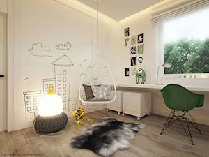 Pokoje dla nastolatków młodszych i najmłodszych - Średni biały pokój dziecka dla chłopca dla malucha, styl skandynawski - zdjęcie od ELEMENTY