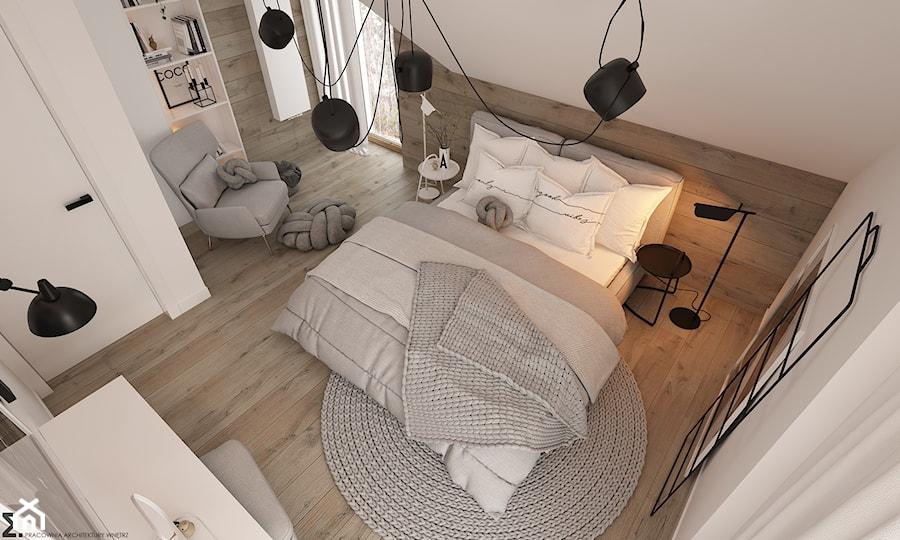 Aranżacje wnętrz - Sypialnia: New nordic 2 - koncepcja - Duża beżowa biała sypialnia małżeńska na poddaszu, styl skandynawski - ELEMENTY. Przeglądaj, dodawaj i zapisuj najlepsze zdjęcia, pomysły i inspiracje designerskie. W bazie mamy już prawie milion fotografii!