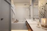biały blat pod umywalkę