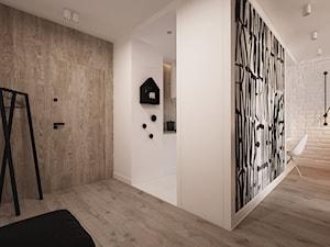 Apartament WBW - Średni biały beżowy hol / przedpokój, styl minimalistyczny - zdjęcie od ELEMENTY