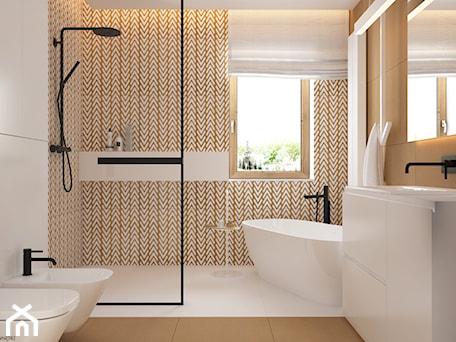 Aranżacje wnętrz - Łazienka: Skandynawski minimalizm w odcieniach nude - Duża szara łazienka w bloku w domu jednorodzinnym z okne ... - ELEMENTY. Przeglądaj, dodawaj i zapisuj najlepsze zdjęcia, pomysły i inspiracje designerskie. W bazie mamy już prawie milion fotografii!