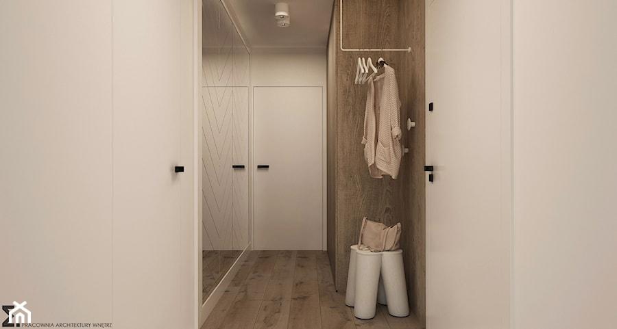 Naturalne drewno + biel = klasyka gatunku jako WERSJA 2 - Średni biały hol / przedpokój, styl skandynawski - zdjęcie od ELEMENTY