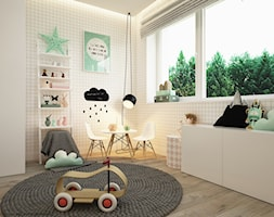 Pokoje dla nastolatków młodszych i najmłodszych - Średni pokój dziecka dla chłopca dla dziewczynki dla rodzeństwa dla malucha, styl skandynawski - zdjęcie od ELEMENTY