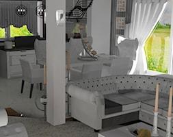 salon z kuchnią - zdjęcie od Nouvelle