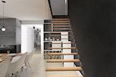 minimalistyczne schody z delikatną balustradą