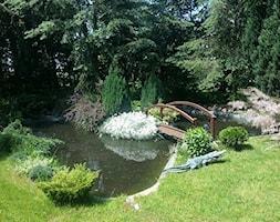 mój azyl - Średni ogród za domem japoński z oczkiem wodnym - zdjęcie od adddg