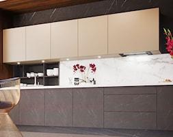Okap podszafkowy Lando Glass 2STRIPS Black - zdjęcie od Nortberg Ekskluzywne Okapy Kuchenne - Homebook