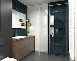 Nadmorski klimat I - Średnia biała szara łazienka w bloku w domu jednorodzinnym, styl nowoczesny - zdjęcie od idea projekt - Homebook