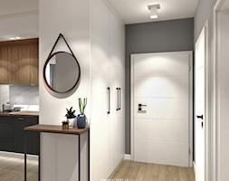 Grafit - Średni biały szary hol / przedpokój, styl skandynawski - zdjęcie od idea projekt - Homebook