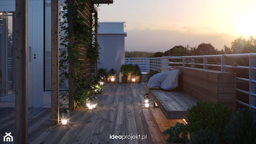 Aranżacja tasu na dachu - Mały taras na dachu, styl włoski - zdjęcie od idea projekt