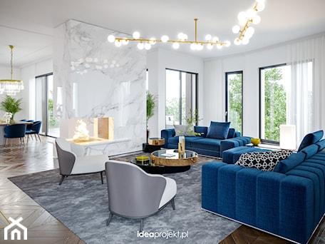 Aranżacje wnętrz - Salon: Apartament na warszawskiej Saskiej Kępie - Salon, styl glamour - idea projekt. Przeglądaj, dodawaj i zapisuj najlepsze zdjęcia, pomysły i inspiracje designerskie. W bazie mamy już prawie milion fotografii!