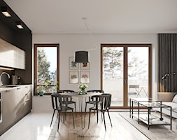 Nautikka - MODERN - Średni szary salon z kuchnią z jadalnią, styl nowoczesny - zdjęcie od idea projekt - Homebook