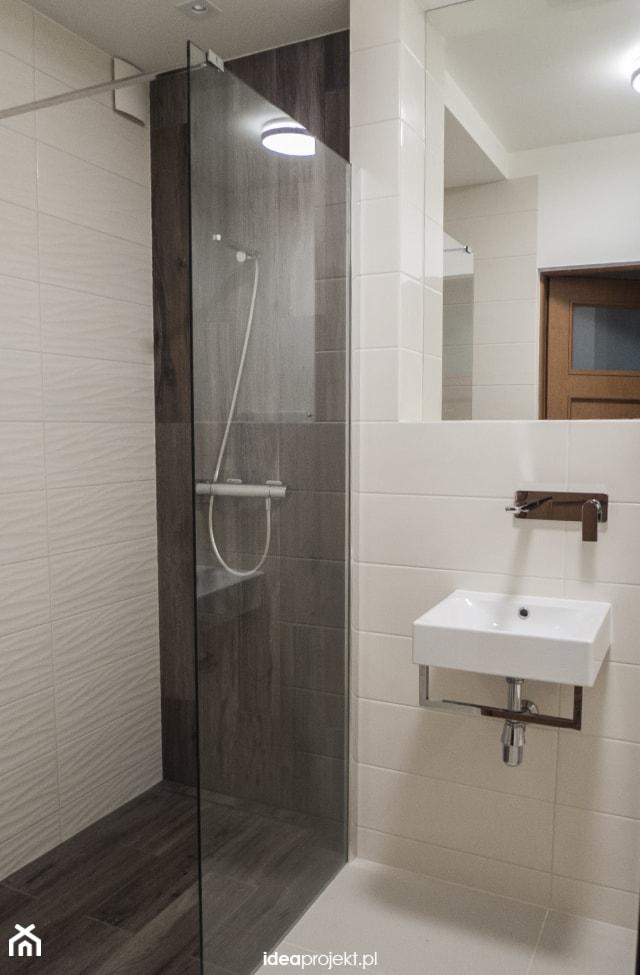 Projekt WC z prysznicem - Łazienka, styl rustykalny - zdjęcie od idea projekt - homebook