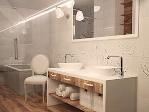 Koncepcja romantycznej łazienki - Duża łazienka w bloku w domu jednorodzinnym bez okna, styl włoski - zdjęcie od idea projekt