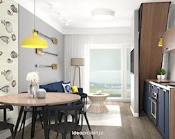 Salon z aneksem kuchennym - zdjęcie od idea projekt - Homebook