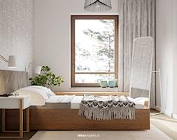 Nautikka - SCANDI - Mała szara sypialnia małżeńska, styl skandynawski - zdjęcie od idea projekt - Homebook