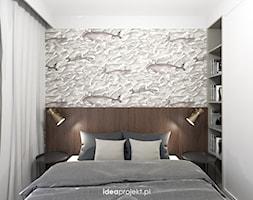 Nadmorski klimat I - Mała biała sypialnia małżeńska, styl eklektyczny - zdjęcie od idea projekt - Homebook