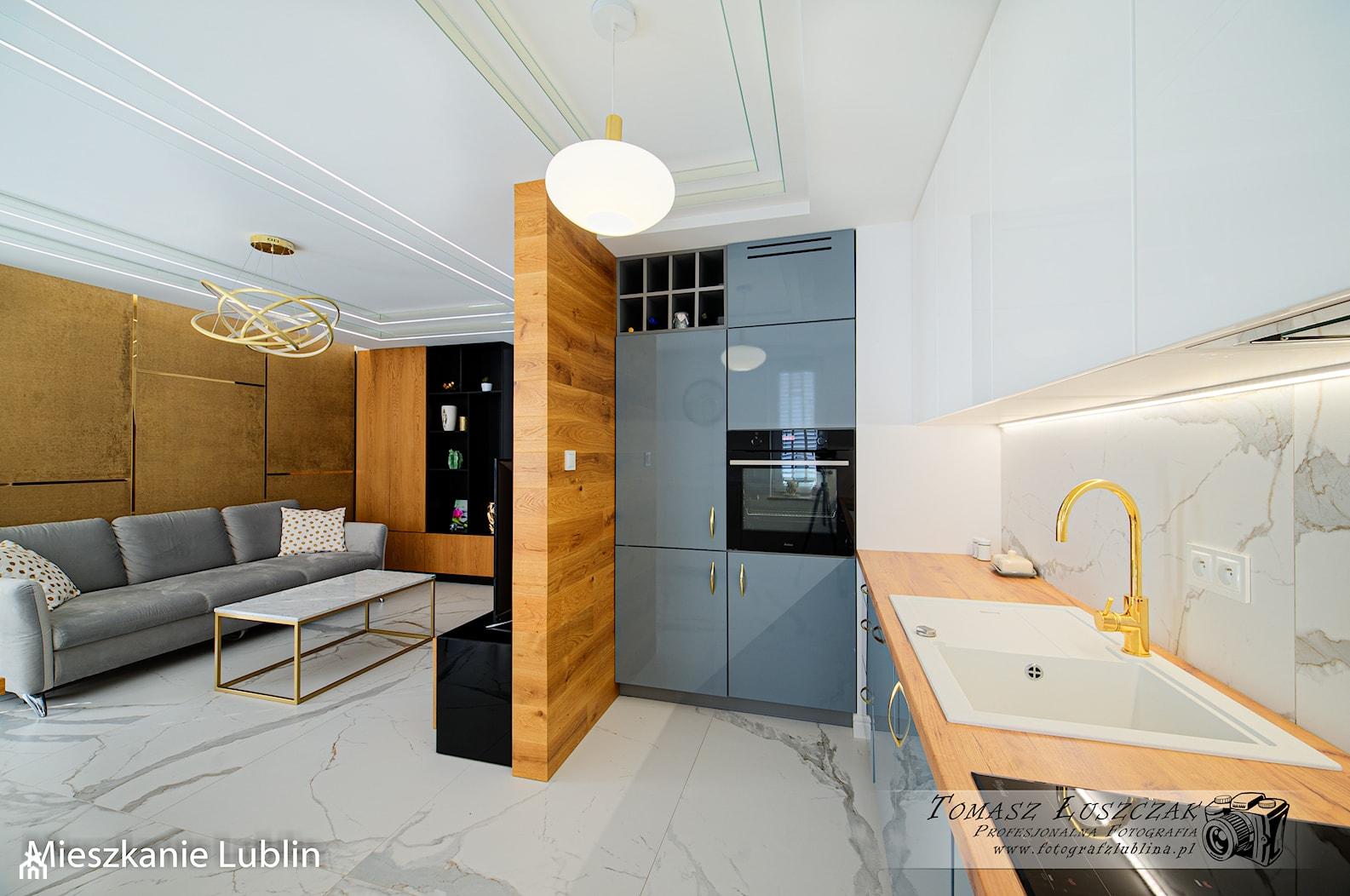 LUBLIN FLAT II - INTERIOR PHOTO SESSION - Kuchnia, styl nowoczesny - zdjęcie od Auraprojekt - Homebook