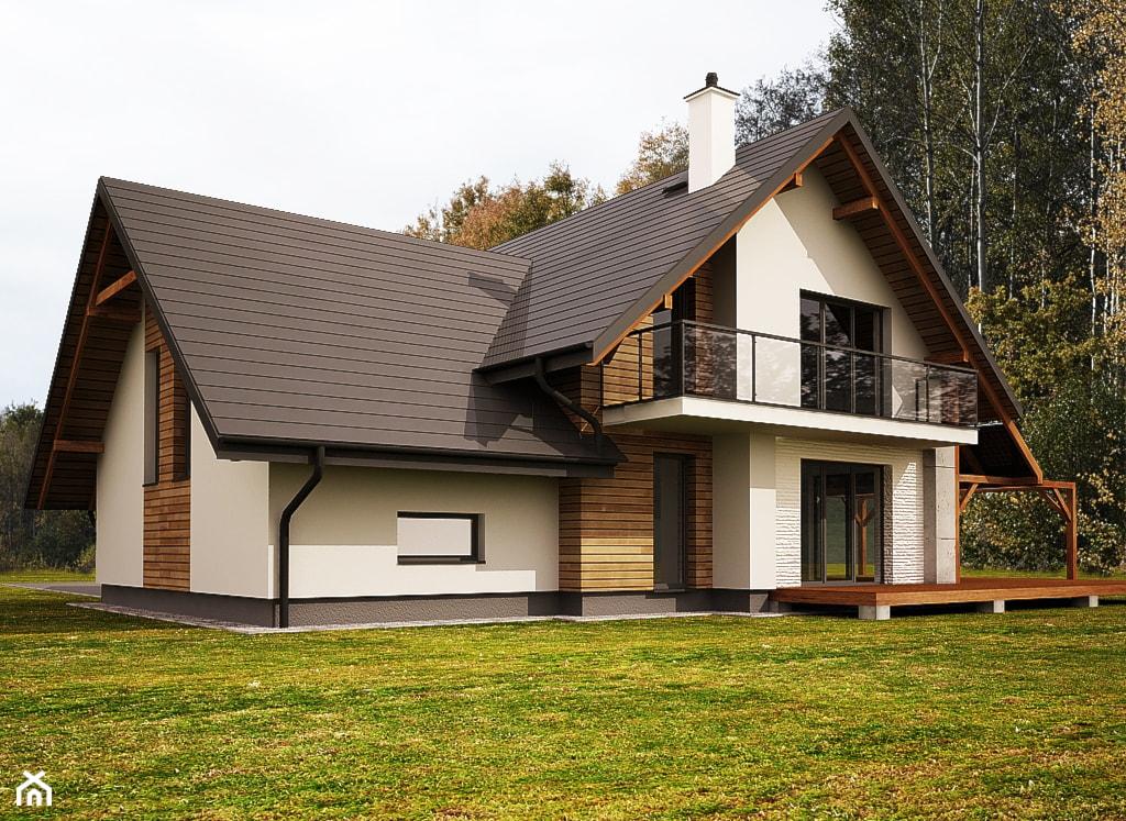 Średnie jednopiętrowe domy jednorodzinne tradycyjne murowane z dwuspadowym dachem, styl tradycyjny - zdjęcie od 3ESDESIGN - Homebook